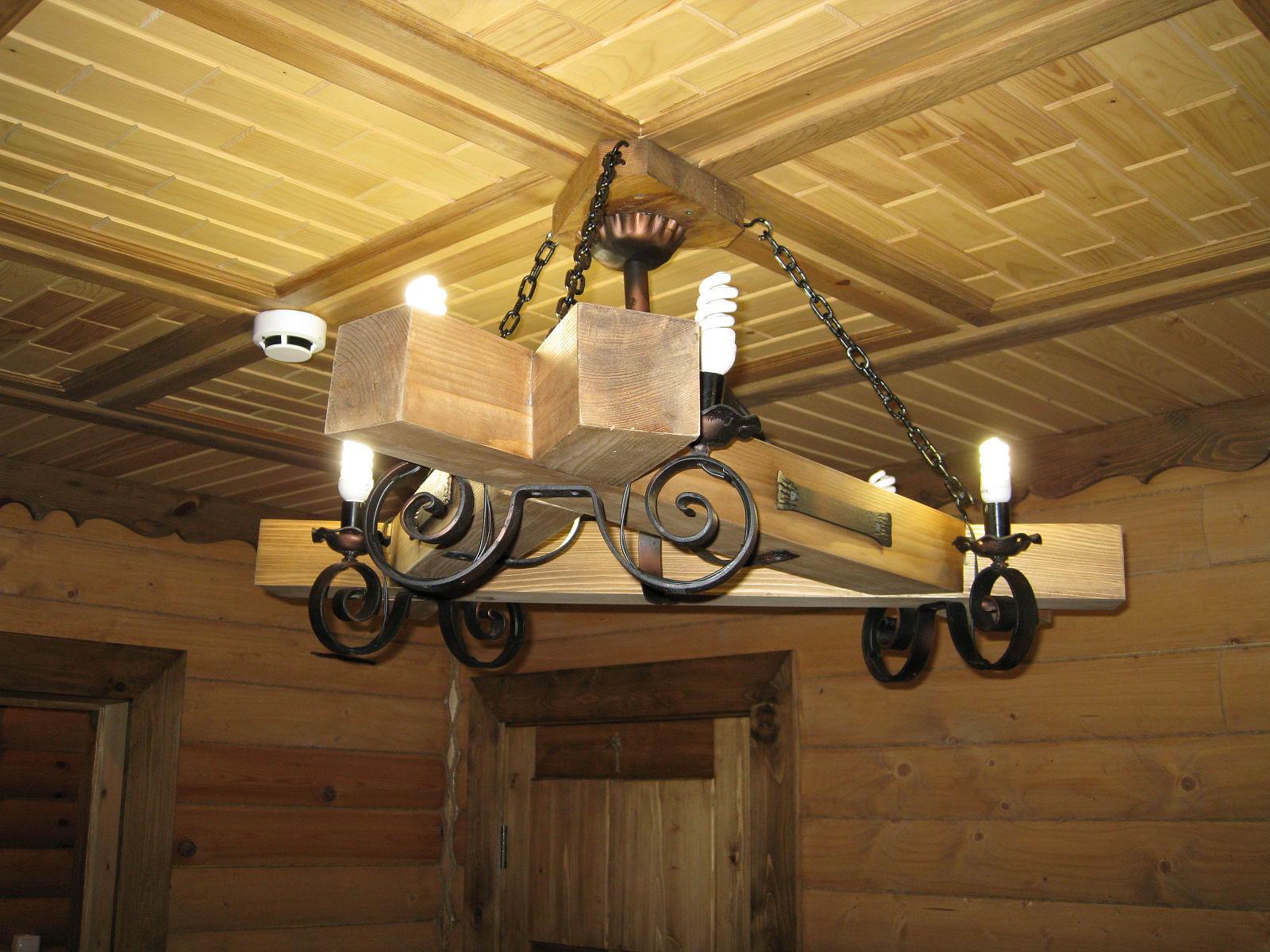 Люстры из дерева в домашних условиях